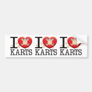 Karts Love Man Bumper Sticker