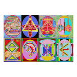 KARUNA REIKI = All 8 symbols Poster