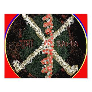 Karuna Reiki Symbol -  RAMA 4.25x5.5 Paper Invitation Card