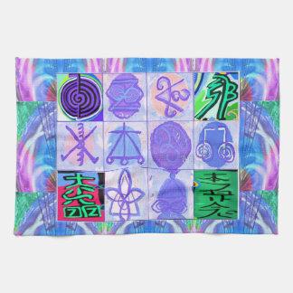 KARUNA Reiki Symbols : Artistic Rendering Kitchen Towels