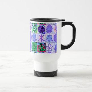 KARUNA Reiki Symbols : Artistic Rendering 15 Oz Stainless Steel Travel Mug