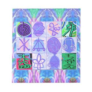 KARUNA Reiki Symbols : Artistic Rendering Notepad