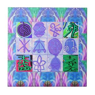 KARUNA Reiki Symbols : Artistic Rendering Tile