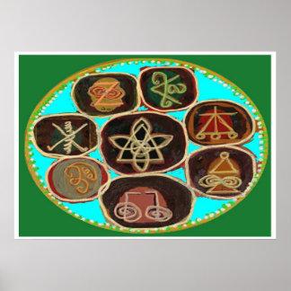 KARUNA Reiki Symbols by Navin Joshi Apr 2011 Poster