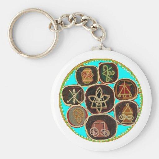 KARUNA Reiki Symbols by Navin Joshi Key Chain