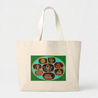KARUNA Reiki Symbols by Navin Joshi Large Tote Bag
