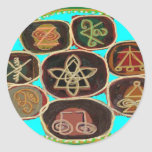 KARUNA Reiki Symbols by Navin Joshi Round Sticker