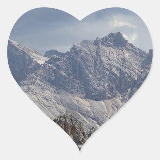 Karwendel range in the Bavarian Alps. Heart Sticker