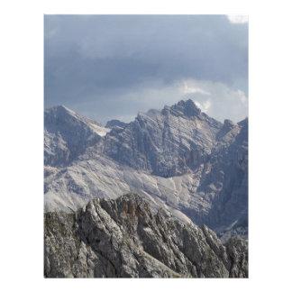Karwendel range in the Bavarian Alps. Letterhead