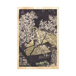 Kasamatsu Plum Trees At Yoshino japanese art Canvas Print