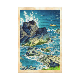 Kasamatsu Shiro Inubozaki Cape waterscape hanga Gallery Wrap Canvas