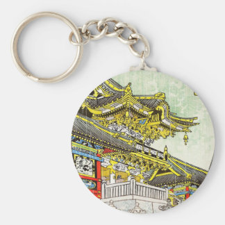 Kasamatsu Shiro Yomei Gate in Light Rain art Key Chain
