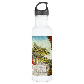 Kasamatsu Shiro Yomei Gate in Light Rain art Stainless Steel Water Bottle