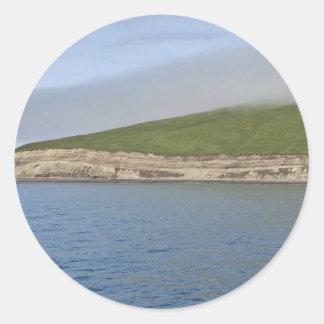 Kasatochi Island bluffs, Andreanof Islands Classic Round Sticker