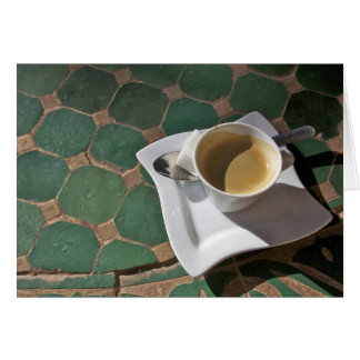 Kasbah Hotel and Restaurant, coffee and green Card