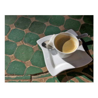 Kasbah Hotel and Restaurant, coffee and green Postcard