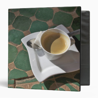 Kasbah Hotel and Restaurant, coffee and green Vinyl Binder