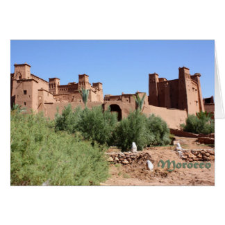 Kasbah in Ait Ben Haddou, Morocco Greeting Cards