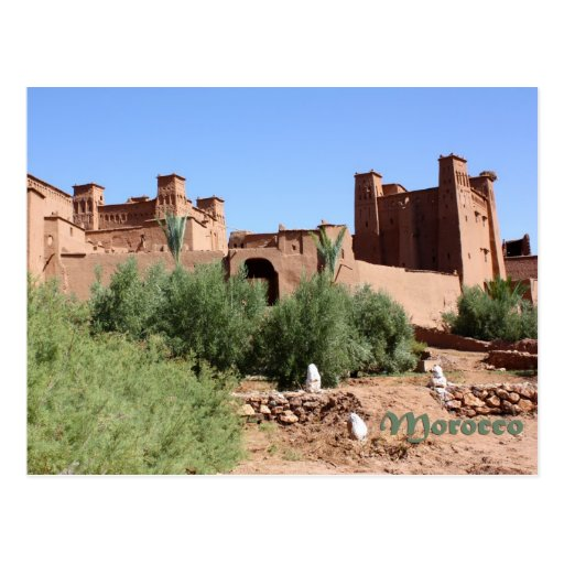 Kasbah in Ait Ben Haddou, Morocco Post Cards