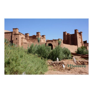 Kasbah in Ait Ben Haddou, Morocco Poster