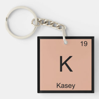 Kasey  Name Chemistry Element Periodic Table Single-Sided Square Acrylic Keychain