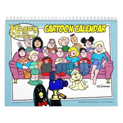 Kasey y calendario del dibujo animado de Company