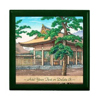 Kashiwara Shrine summer scenery Japanese hanga Jewelry Boxes