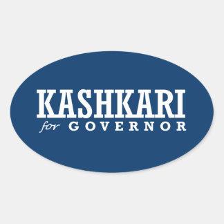 KASHKARI FOR GOVERNOR 2014 OVAL STICKER