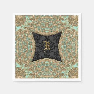 Kashmid Keller Monogram Paper Napkin