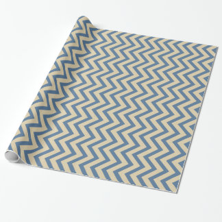 Kashmir Blue Spice Moods Chevrons Gift Wrap Paper