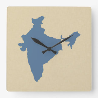 Kashmir Blue Spice Moods India Square Wall Clock