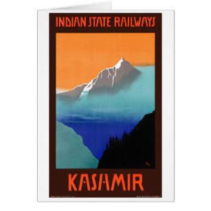 Indian State Railways Visit India  Vintage Railroad Travel Advertisement Poster