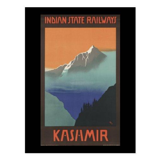 Kashmir Indian State Railways Postcards