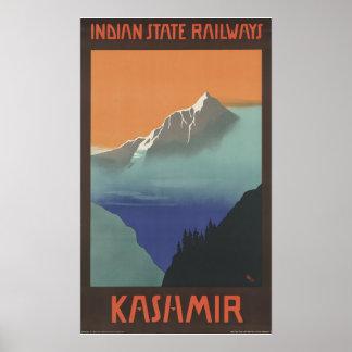 Kashmir Indian State Railways Print