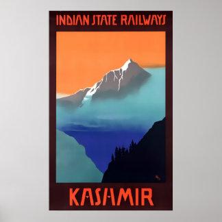 Kashmir Travel Advert Posters