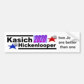 Kasich-Hickenlooper 2020 Bumper Sticker