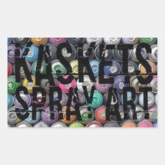 Kaskets Spray Art - Stax of canz sticker