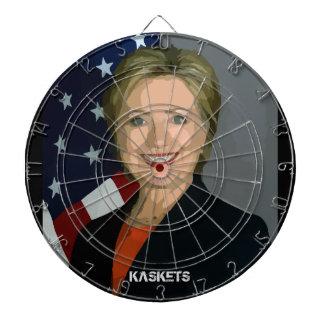 KASKETS - Tablero de dardo de Clinton