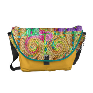 Kassimus mosaic courier bag