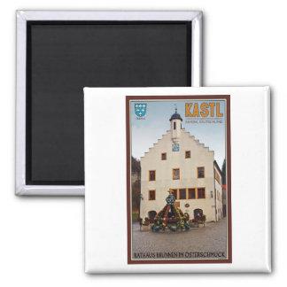 Kastl - Rathaus 2 Inch Square Magnet