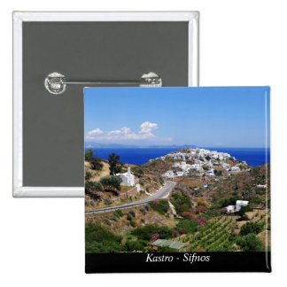 Kastro - Sifnos 2 Inch Square Button