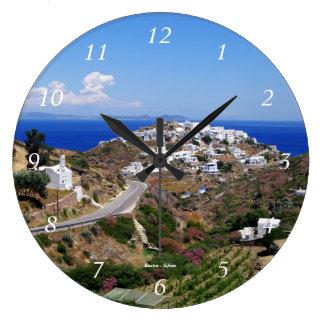 Kastro - Sifnos Large Clock