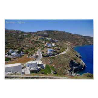 Kastro- Sifnos Poster