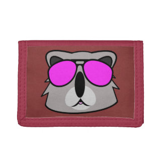 Kasual Koala Red Trifold Wallets