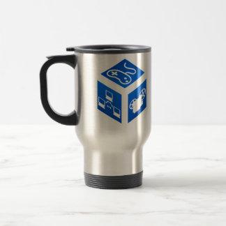 Kat 5 Kaos Blue Cube Travel Mug