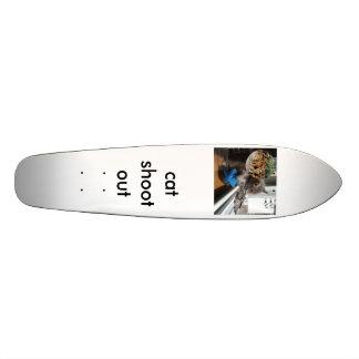 kat, cat shoot out skateboard deck