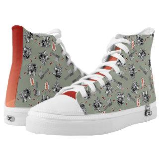 Kat Splat Fever - Hello O.C.! High Top Shoes