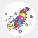 Kat the Caterpillar Classic Round Sticker