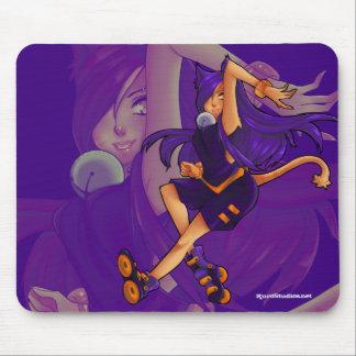 Kat w/ Blades Mousepad