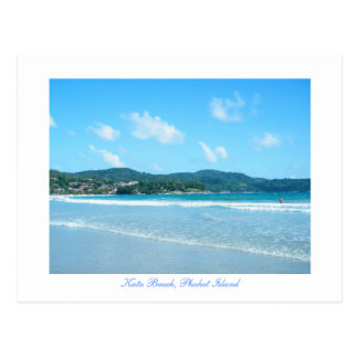 kata, playa de KATA, isla de Phuket Postales